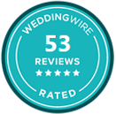 Wedding Wire 53 Reviews Badge